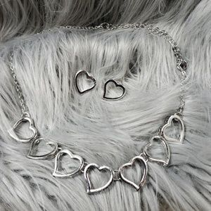 Jewelry - Heart Necklace with Earrings set